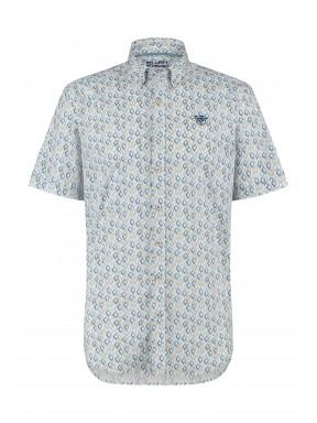 Stretch-shirt-of-cotton---grey-blue/sand