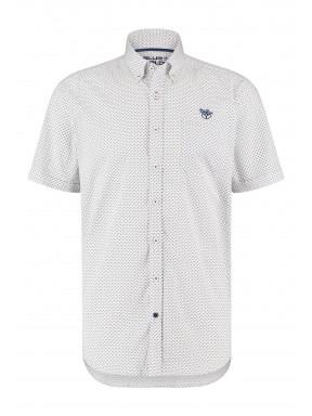 Short-sleeve-shirt-with-print---coral/cobalt