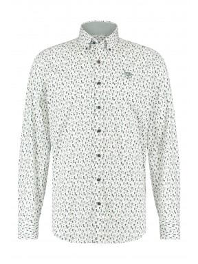 Overhemd-met-regular-fit---donkergroen/kobalt
