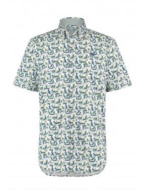 Cotton-shirt-with-chest-pocket---dark-green/cobalt