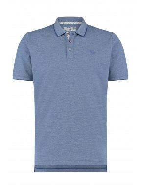 Poloshirt-with-a-brandlogo---cobalt-plain