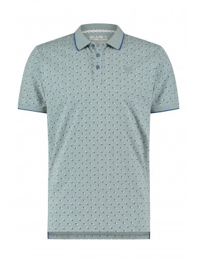 Poloshirt-with-an-all-over-print---jade/cobalt