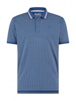 Poloshirt-with-regular-fit---cobalt/coral