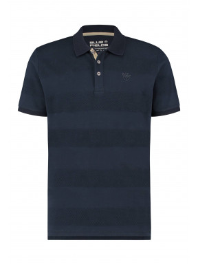Poloshirt-with-a-brandlogo---dark-blue-plain