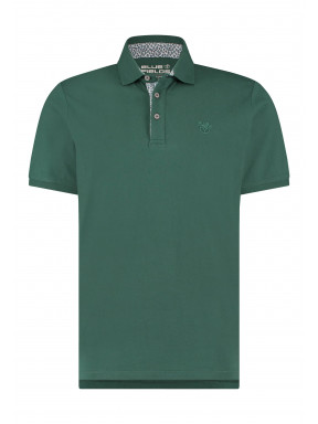 Poloshirt-of-100%-cotton---dark-green-plain