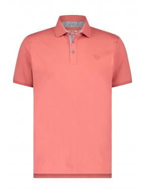 Poloshirt-of-100%-cotton---coral-plain
