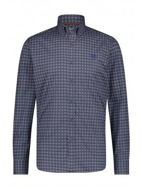Shirt-Print---midnight/cognac