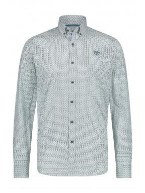 Shirt-Print---light-green/midnight