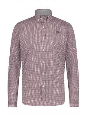 Shirt-Print---wine-red/charcoal