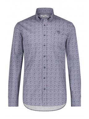 Shirt-Print---cobalt/cognac