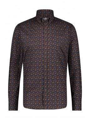 Shirt-Print---charcoal/mango