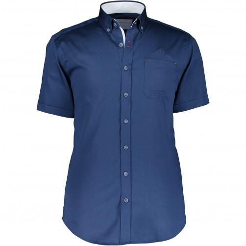 Overhemd-uni-met-korte-mouwen