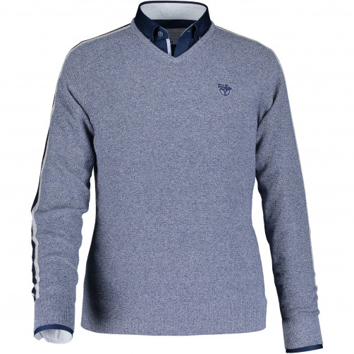 Pullover-plain-with-v-neck