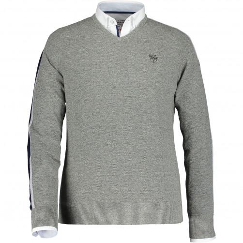 Pullover-plain-with-v-neck