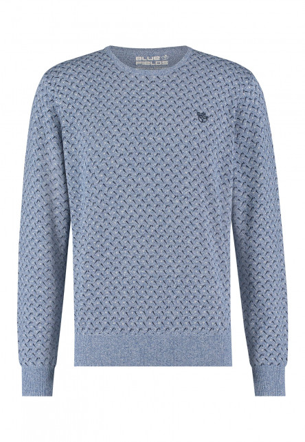 Pullover-with-an-all-over-print---cobalt/midnight