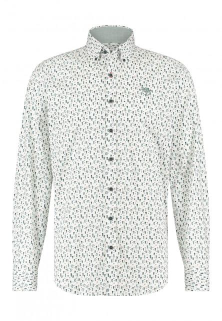 Shirt-with-regular-fit---dark-green/cobalt