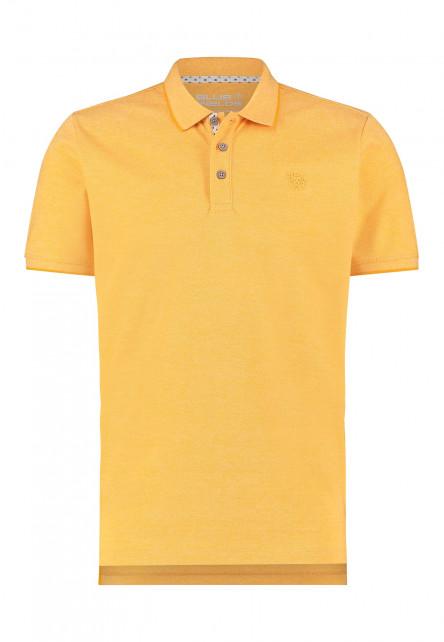 Polo-met-borstlogo---goud-geel-uni