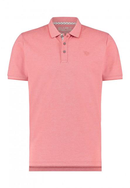 Poloshirt-with-a-brandlogo---coral-plain