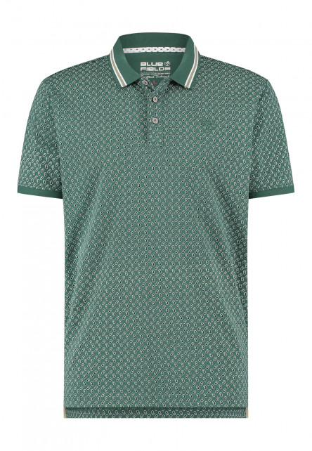 Poloshirt-with-regular-fit---dark-green/midnight
