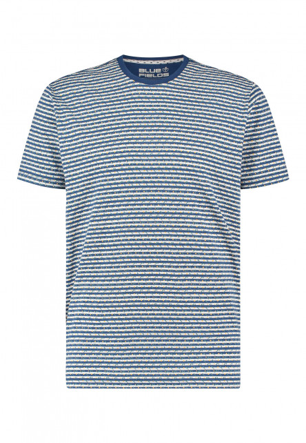 Printed-t-shirt-with-crew-neck---cobalt/goldyellow