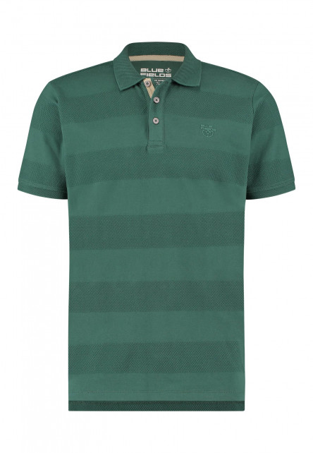 Poloshirt-with-a-brandlogo---dark-green-plain
