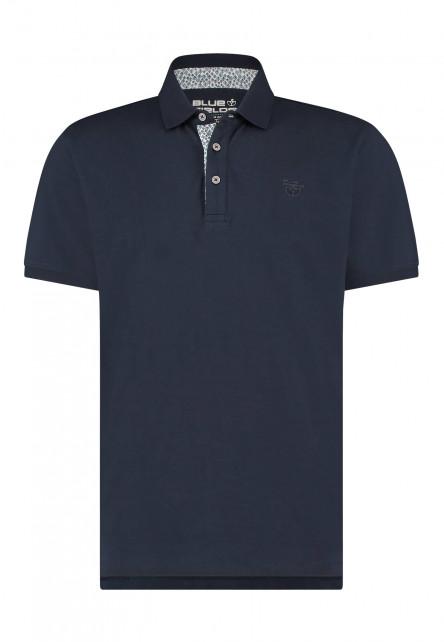 Poloshirt-of-100%-cotton---dark-blue-plain