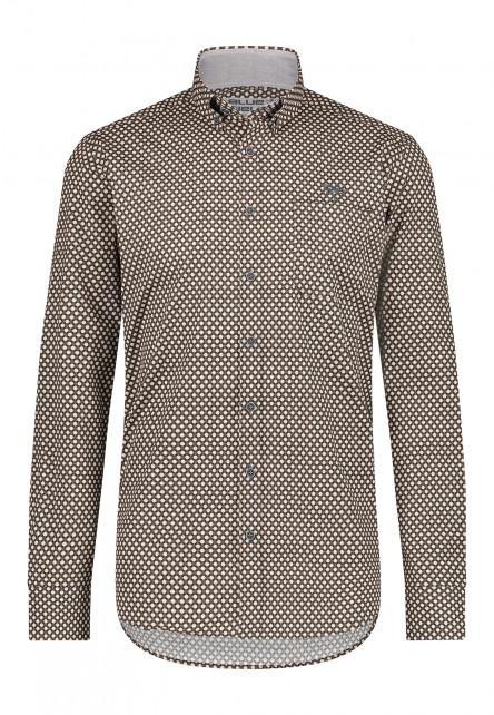Shirt-Print---mango/charcoal