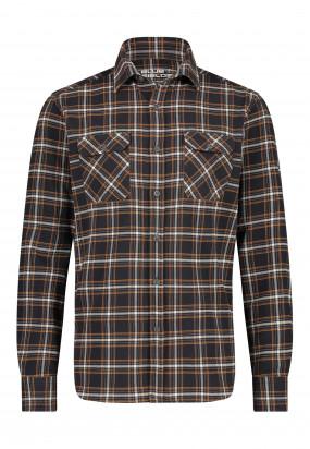 Geruit-overhemd-met-klepzakken---donkerantraciet/mango