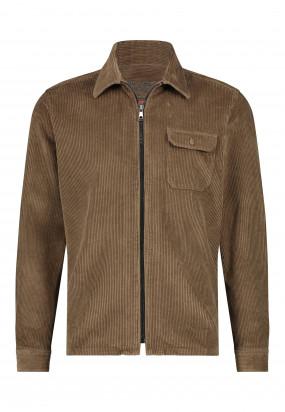 Corduroy-overshirt-met-borstzak---sepia-uni