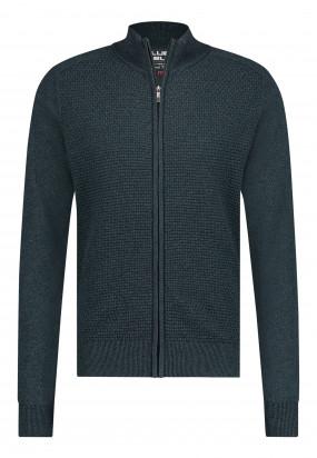 Vest-van-een-gerecyclede-polyester-mix---donkergroen/donkerblauw