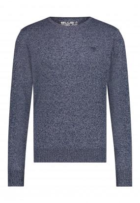 Trui-van-een-gerecyclede-polyester-mix---donkerblauw/zilvergrijs