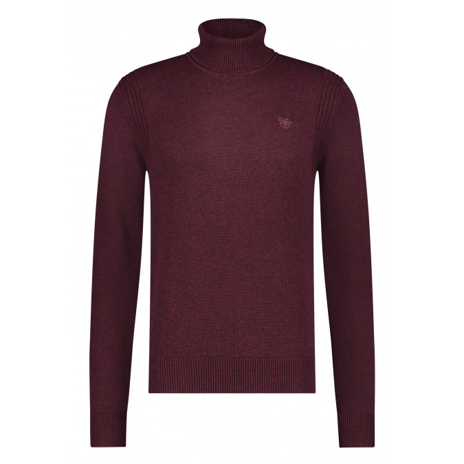 Pullover-Roll-Neck-Plain---wine-red/charcoal