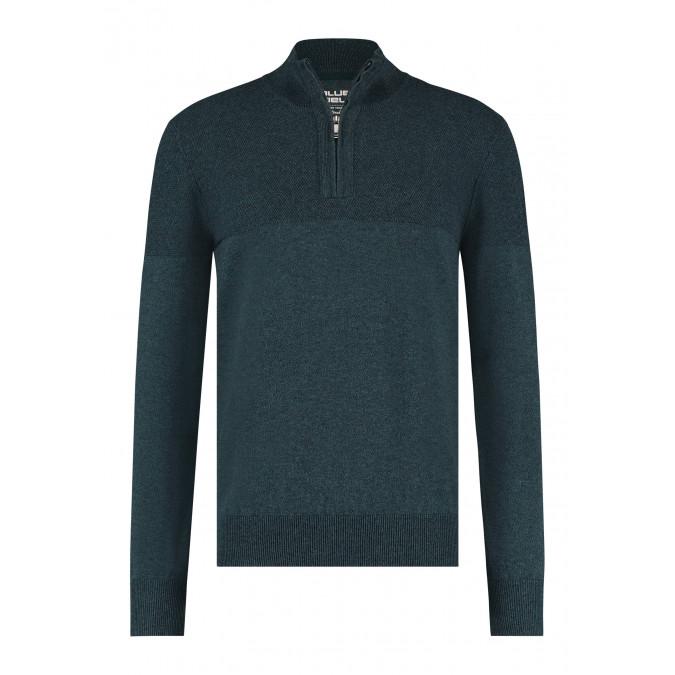 Pullover-Half-Zip-Plain---dark-green/midnight